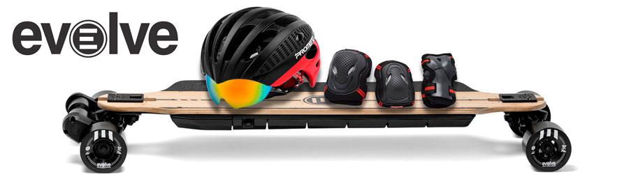 Шлем + комплект экипировки при покупке электроскейтов Evolve GTR